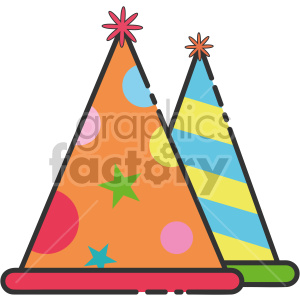 party hats clipart. Royalty-free image # 407428