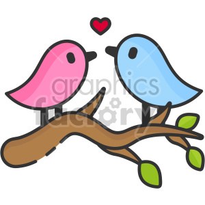 lovebirds clipart. Royalty-free image # 407447