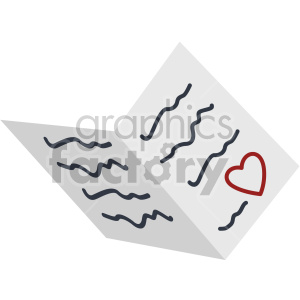 valentines greeting card vector icon no background clipart. Royalty-free image # 407457