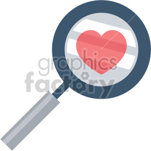 searching for love valentines vector icon no background clipart. Royalty-free image # 407460