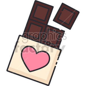 chocolate bar clipart. Commercial use image # 407481