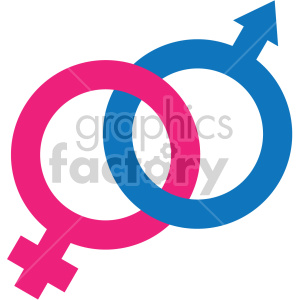 male female symbols vector icon no background