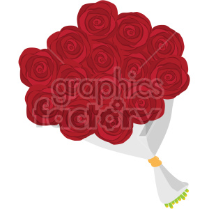 red rose bouquet vector icon no background