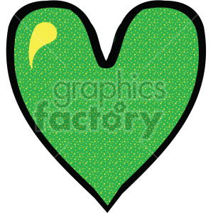 green heart clipart. Royalty-free image # 407511