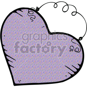 purple heart art clipart. Royalty-free image # 407516