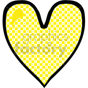 yellow heart clipart. Commercial use image # 407520