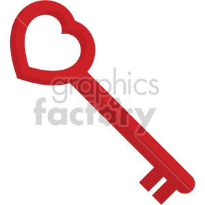 heart shaped skeleton key no background clipart. Commercial use image # 407605