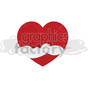 heart with clouds for valentines no background clipart. Royalty-free image # 407608