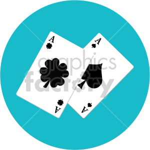 st patricks day playing cards on circle background clipart. Commercial use image # 407655