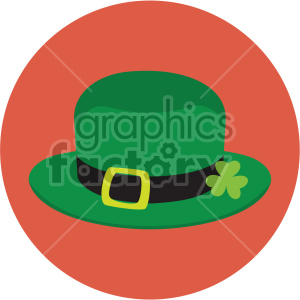 st patricks day leprechaun hat on circle background clipart. Commercial use image # 407672
