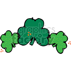 shamrock clovers 005 c clipart. Royalty-free image # 407726