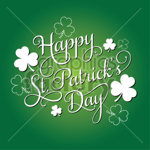 happy st patricks day on green background clipart. Commercial use image # 407746