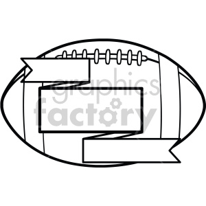 football with blank ribbons vector art clipart. Commercial use image # 407766