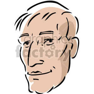 guy's face clipart. Royalty-free image # 157385