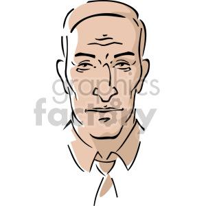 cartoon man's head clipart. Commercial use image # 157365