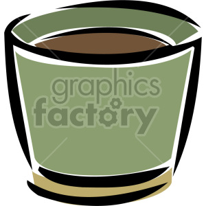 flower pot clipart. Royalty-free image # 151165