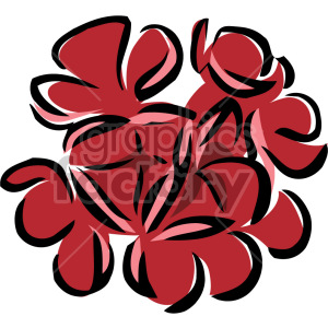 red flowers clipart. Royalty-free image # 151169