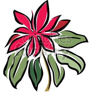 red flower clipart. Royalty-free image # 151187