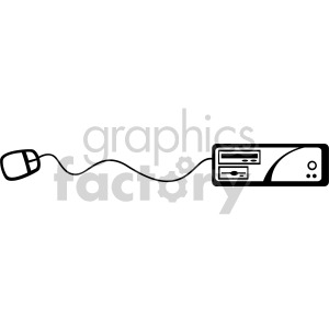 computer and mouse clipart. Royalty-free image # 166983