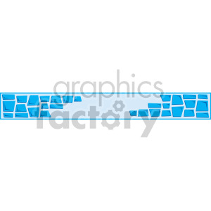 cartoon wall header clipart. Royalty-free image # 167018
