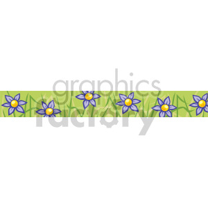 flower patch header clipart. Commercial use image # 167026