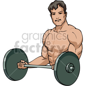 man curling weights clipart. Royalty-free image # 170211