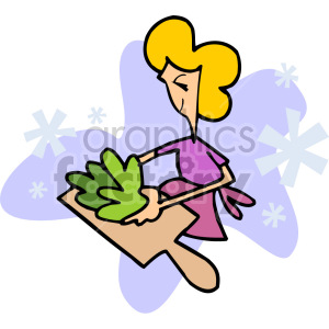 woman cooking clipart. Commercial use image # 155238