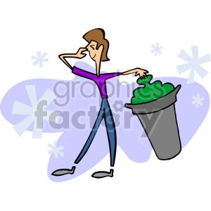 man taking the stinky trash out clipart. Royalty-free image # 155273