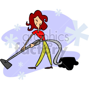 girl vacuuming the floor clipart. Royalty-free image # 155301