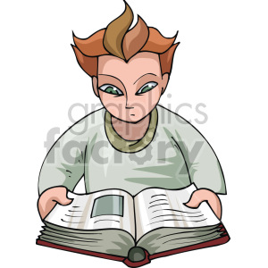 man reading a book animation. Commercial use animation # 155323