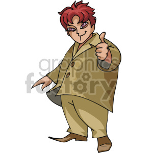 cool kid giving a thumbs up clipart. Royalty-free image # 155335