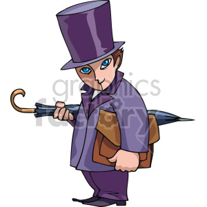 man wearing a top hat clipart. Royalty-free image # 155353