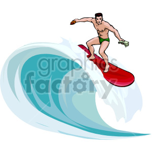surfer clipart. Commercial use image # 154959