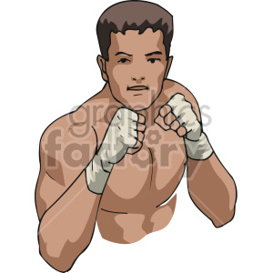 boxer training clipart. Royalty-free image # 168751