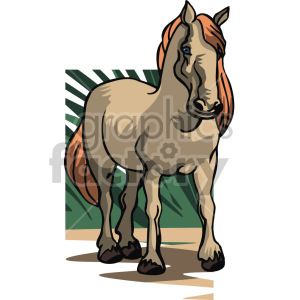 horse clipart. Commercial use image # 129348