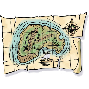 pirate treasure map clipart. Commercial use image # 407789