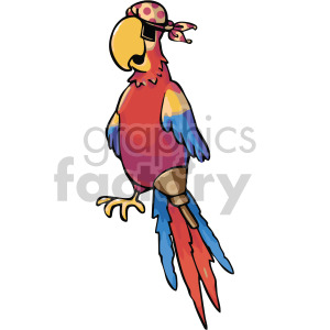 pirate parrot with eye patch clipart. Royalty-free image # 407803