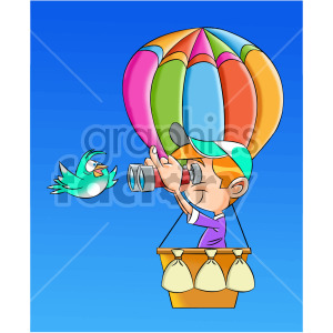 cartoon man bird watching clipart. Commercial use image # 407893