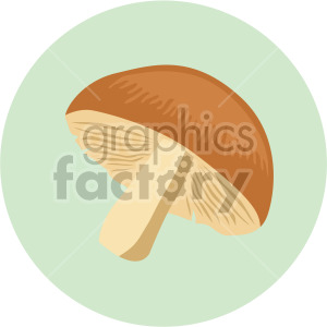 mushroom on green circle background clipart. Royalty-free image # 408005