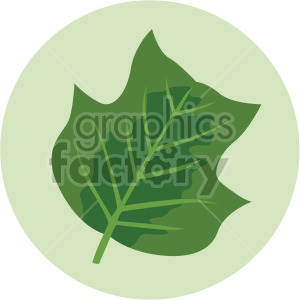 leaf on green circle background clipart. Royalty-free image # 408073