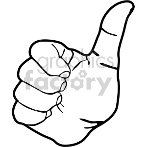 hand thumb up black white clipart. Royalty-free image # 408091