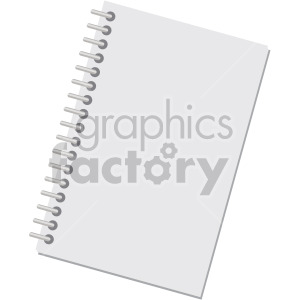 closed notebook no background clipart. Royalty-free image # 408106