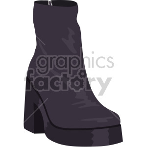 womans black boots clipart. Commercial use image # 408128