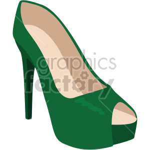 womans green high heels clipart. Royalty-free image # 408168