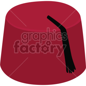 elope Maroon Fez with Black Tassel no background clipart. Commercial use image # 408170