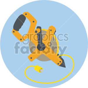retractable cord on circle background clipart. Royalty-free image # 408240
