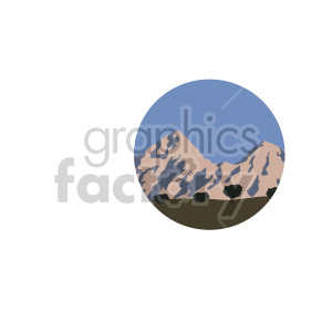 mountains with field scene circle design clipart. Royalty-free image # 408319