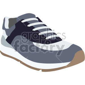tennis shoe with brown sole clipart. Commercial use image # 408360