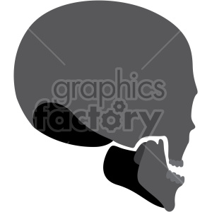 skull three quarter back view clipart. Royalty-free image # 408373