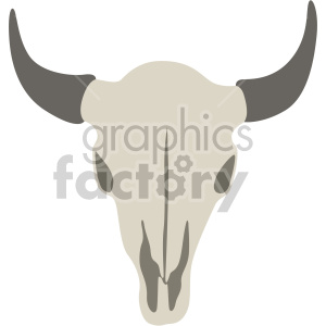 cattle skull clipart. Royalty-free image # 408379
